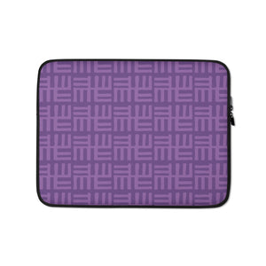 Purple African Symbol Laptop Sleeve