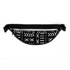Black Mud Cloth Fanny Pack