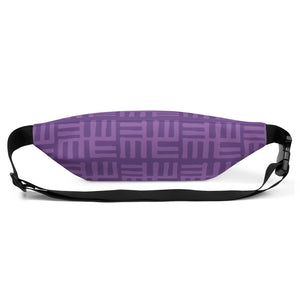Purple African Pattern Fanny Pack