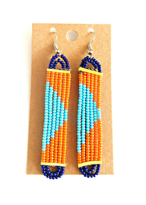 Colorful Maasai Bead Earrings 12