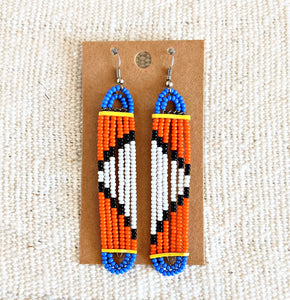 Colorful Maasai Bead Earrings 4