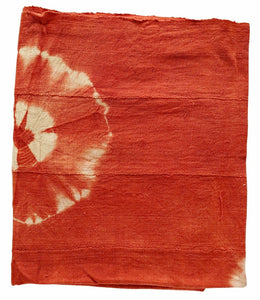 Burnt Orange Mud Cloth Fabric Throw