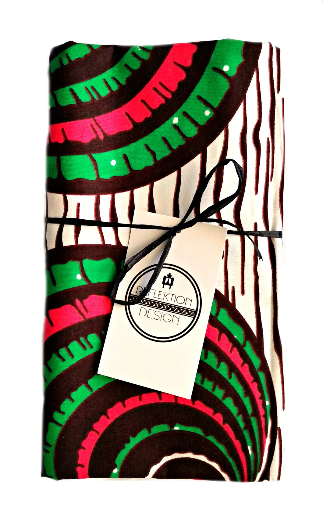 Circles African Print Fabric Head Wrap
