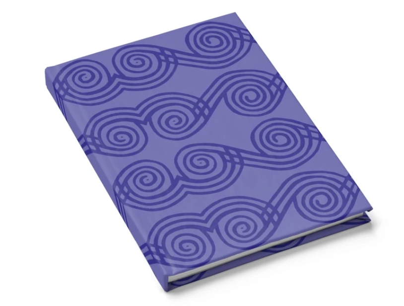 purple african print hard cover journal lined