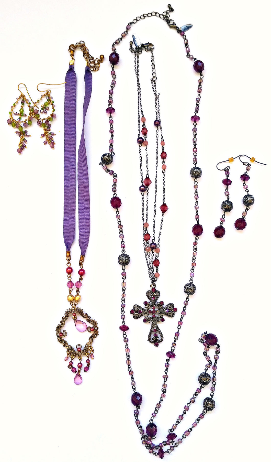 Purple Vintage Jewelry Bundle