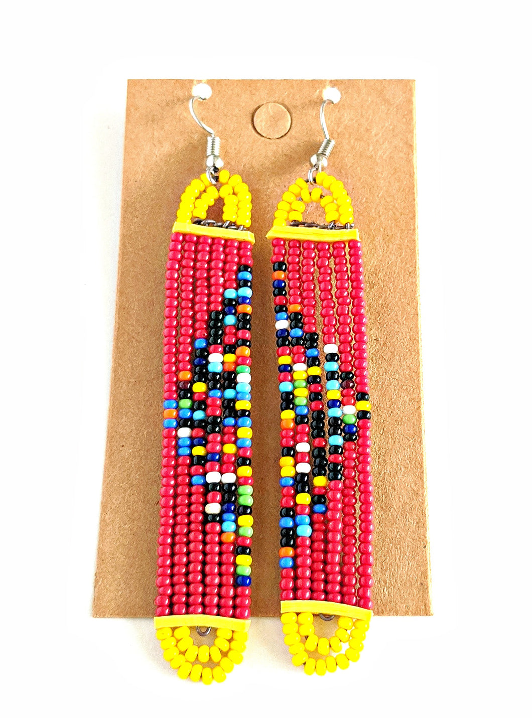 Colorful Maasai Bead Earrings 17