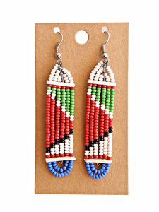 Colorful Maasai Bead Earrings 13