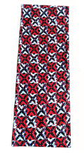 Red Black Ankara Fabric Table Runner