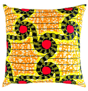 Yellow Ankara Fabric Pillow Covers