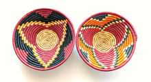 Black Red Woven African Baskets