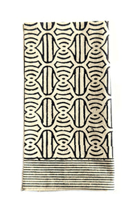 Tan Black Block Print Dinner Napkins