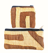 Kuba Cloth Coin Purse Makeup Bag Set G