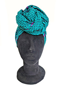 Turquoise Shell Head Wrap