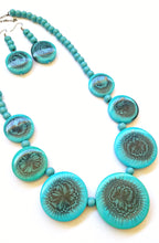 Turquoise Bead Necklace Earring Set