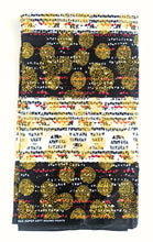 Black Red Gold Ankara Fabric 4 Yards