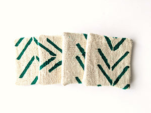 Mud Cloth Fabric Coasters