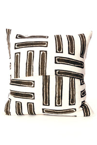 Duo Tone Mud Cloth Pillow Covers Lined Up