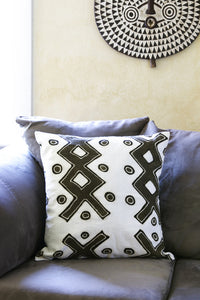 Duo Tone Mud Cloth Pillow Covers Criss Crossed