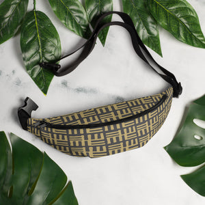 Brown Yellow African Pattern Fanny Pack