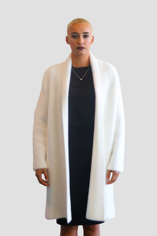 EMMA CHAI: Fur-Free Jacket with Pearl Buttons