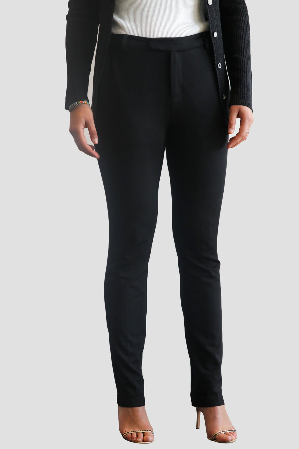 emma chai 4-way-stretch pants @emmachaiofficial emma chai. Crafted from polyester, viscose and spandex, with a soft stretch quality. side pockets. ykk zippers. Tapered leg. zip fly. Deep side pockets big enough for iPhone 8. Welted back pockets
