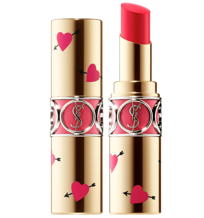YVES SAINT LAURENT: Heart & Arrow Collector Rouge Volupté Shine Lipstick