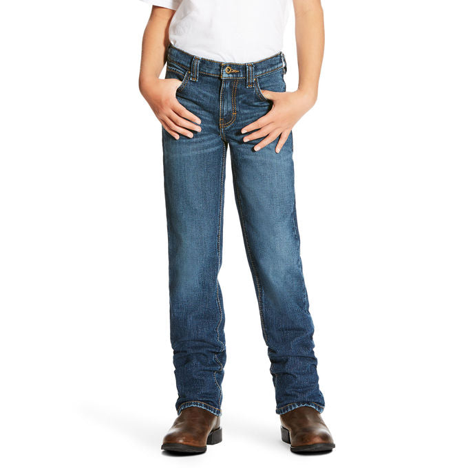 Ariat Boys B4 Relaxed Legacy Stretch Boot Cut Jeans
