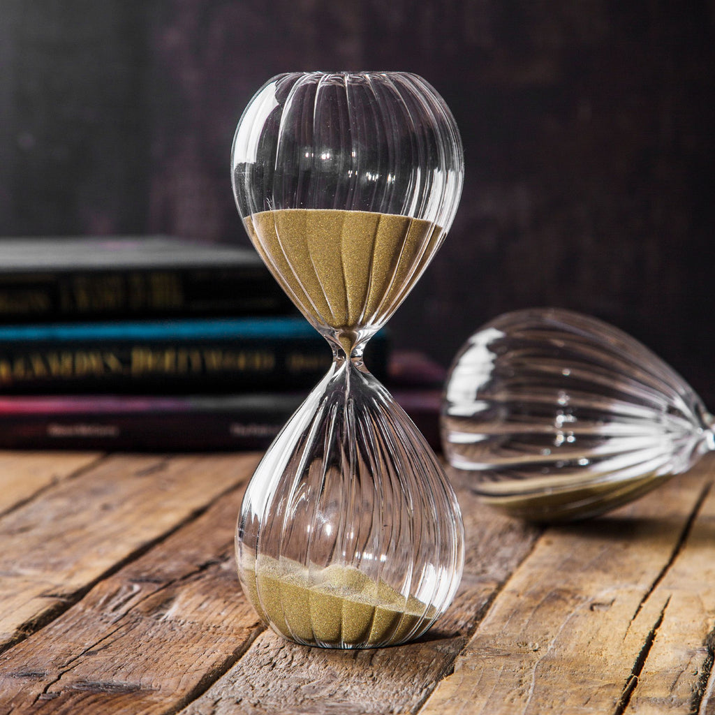 "8""H Optic Hourglass Gold Sand Timer 