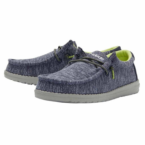 Hey Dude Wally Youth Stretch Navy Shoes | Cornell's Country Store