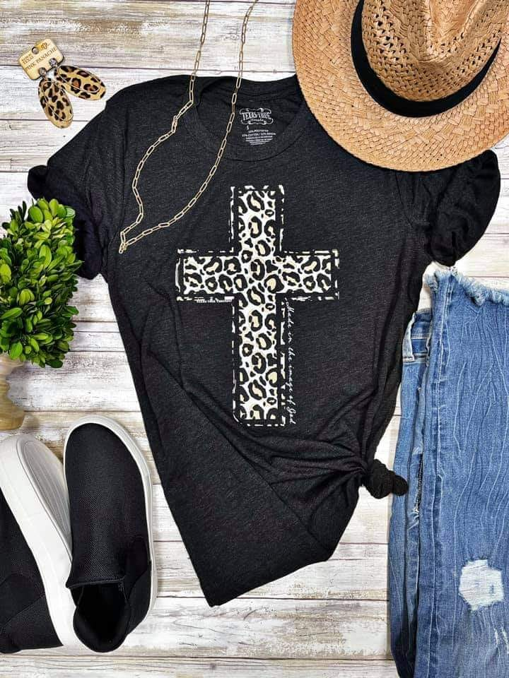 Leopard Cross Graphic Tee