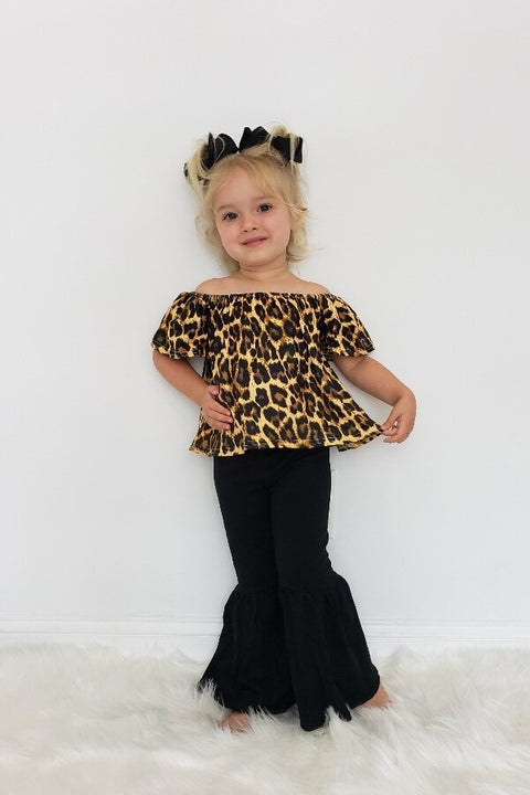 Girls' Darling Leopard Pants Set