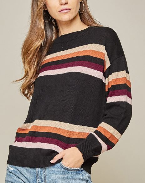 Sight To See Striped Sweater | Cornell's Country Store