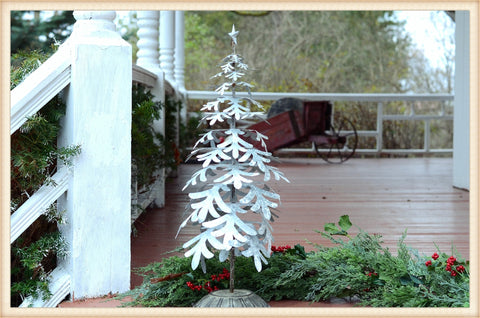 Tin Snow Flake Tree