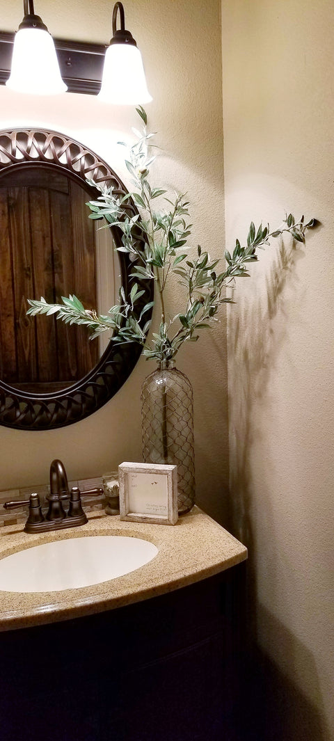 faux greenery olive branch