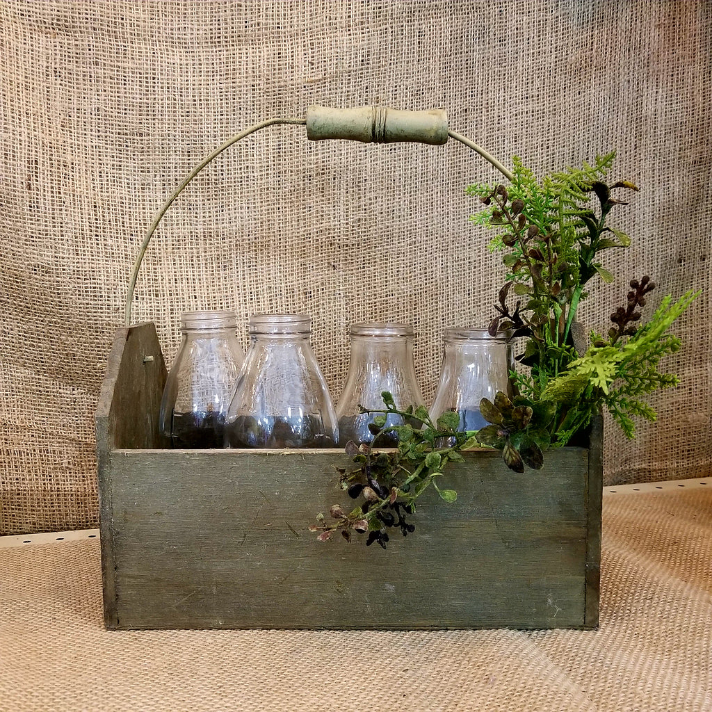 Farmhouse Decor Collection Milk Bottle Tote Box