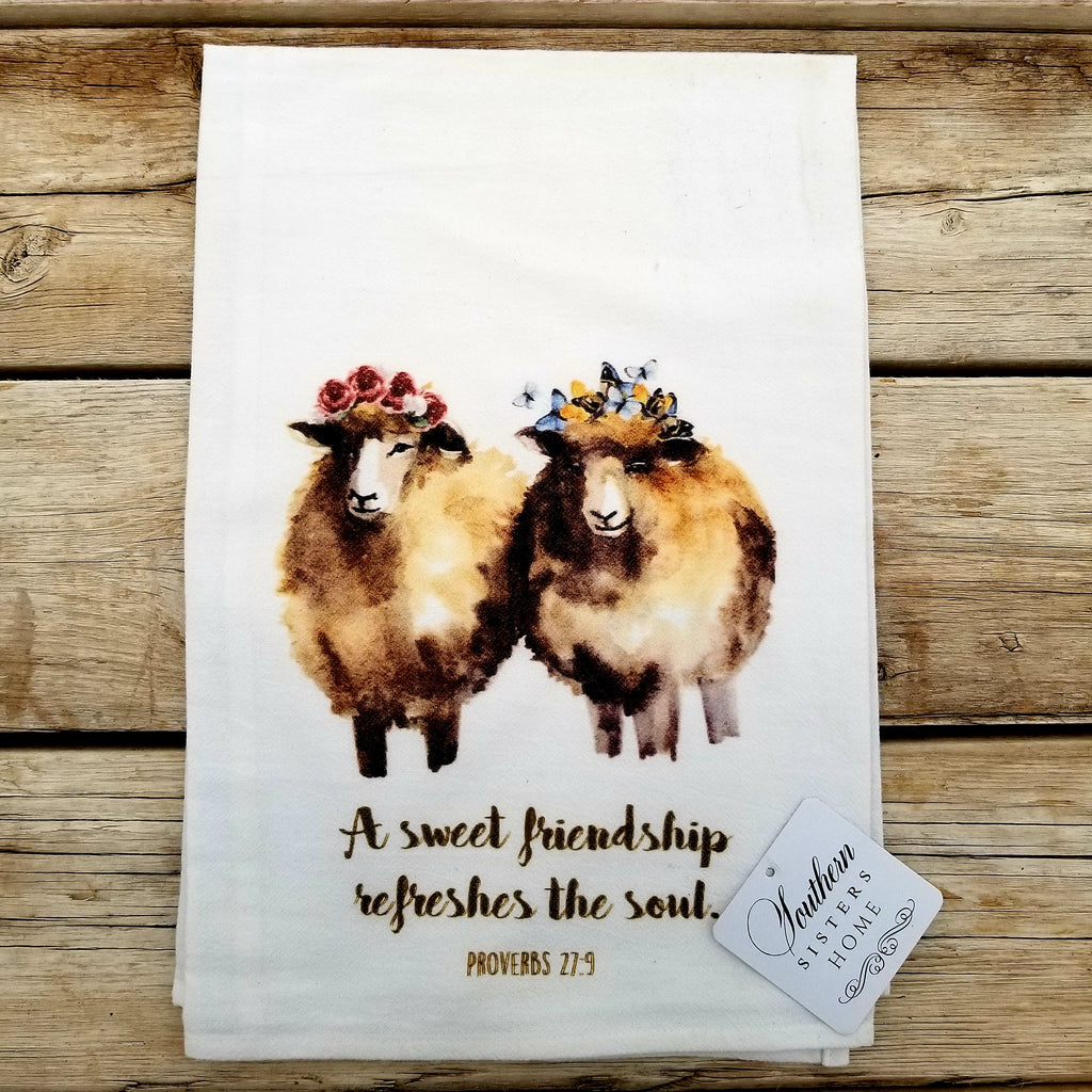 Luxury Flour Sack Towels with Proverbs