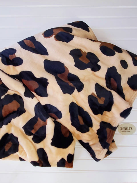 Wild Side Leopard Plush and Cozy Blanket