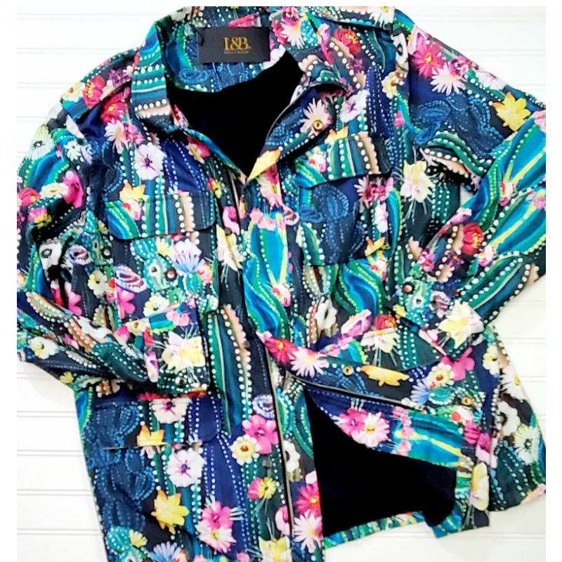 Cactus Print Spring Jacket | Cornell's Country Store