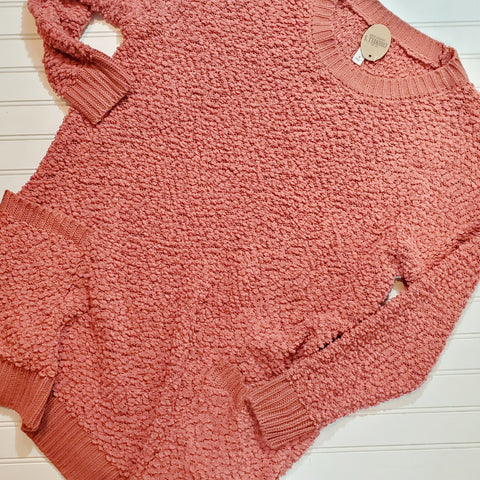 Popcorn Sweater Tunic w/ Pockets
