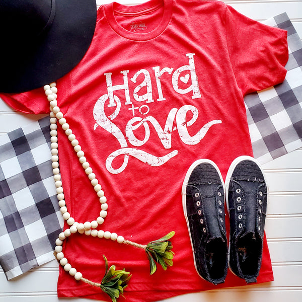 Vintage Red Hard To Love Graphic Tee | Cornell's Country Store