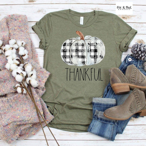 Thankful Pumpkin Graphic Tee Shirts