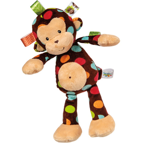 Taggies Dazzle Dots Monkey Soft Toy – 12″