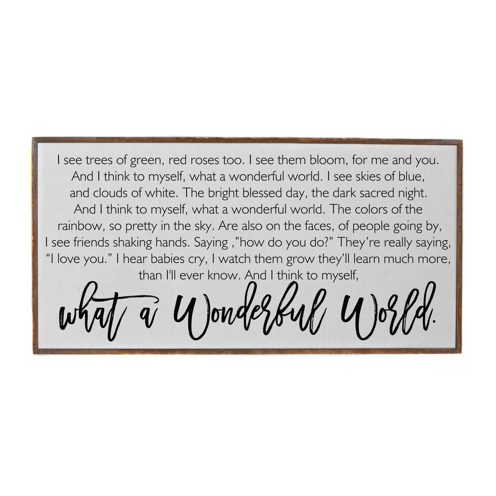 What A Wonderful World Wood Sign | Cornell's Country Store
