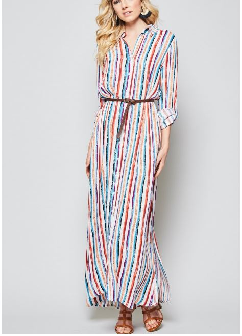 Summer Stripes Maxi Dress