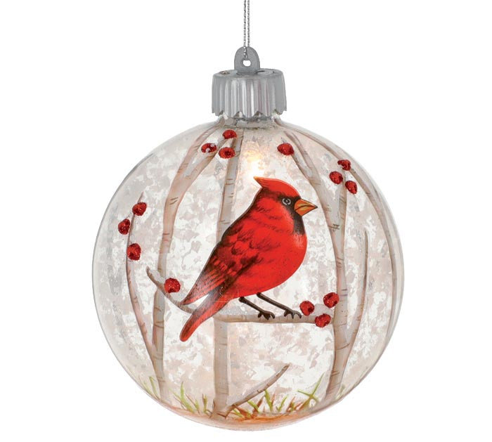 Light Up Cardinal Ornament