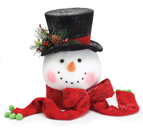 Snowman Head Tree Topper | Cornell's Country Store