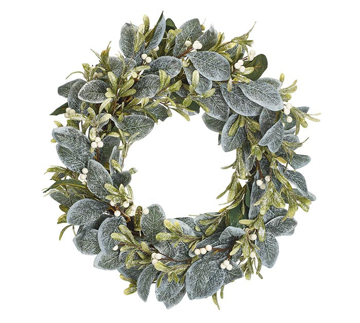 Frosted Misteltoe Wreath