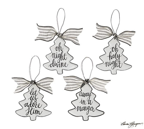 Christmas Tree Ornament - Black and White