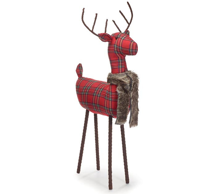 "Standing 27"" Tartan Plaid Deer 