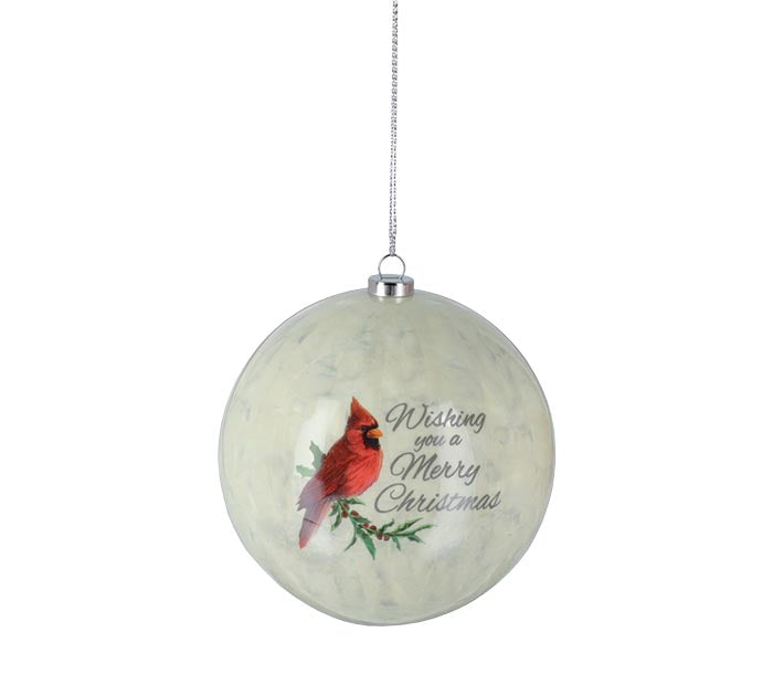 Red Cardinal Christmas Ornament Gift Boxed